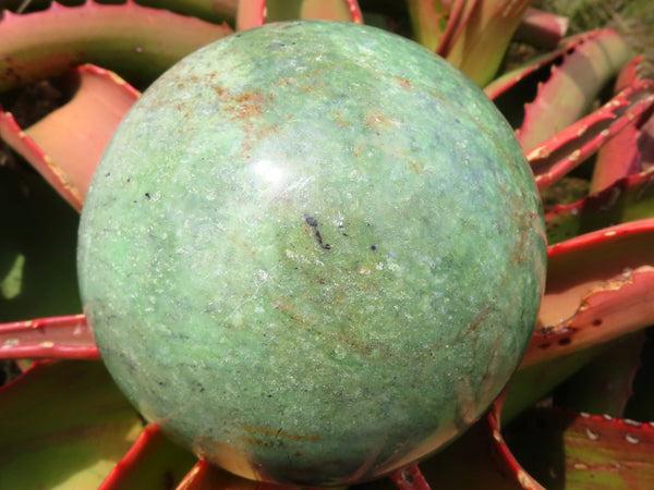 Polished Large Chrysoprase Ball x 1 from Madagascar