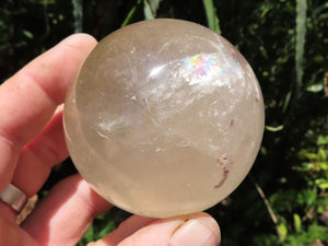 Polished Medium Quartz Crystal Balls x 2 from Madagascar