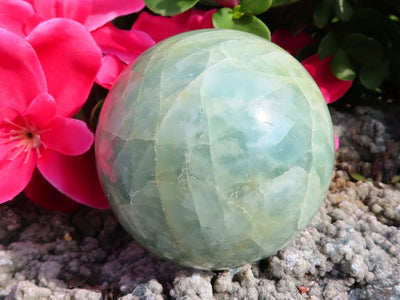 Polished Aquamarine Crystal Sphere x 1 from Angola