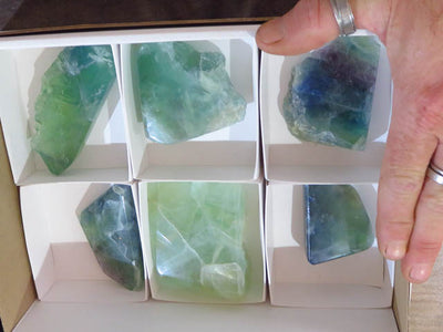 Polished Watermelon Fluorite Pieces x 6 from Namibia - TopRock