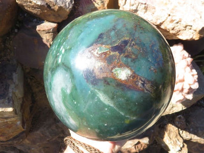 Polished XXL Royal Swazi Jade Sphere x 1  from Swaziland