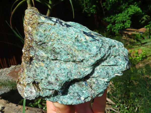 Natural Large Blue Kyanite In Green Fuchsite Specimens x 6 from Zimbabwe