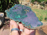 Polished Large Malachite & Cuprite Slices x 6 from Congo