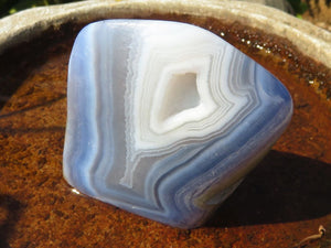 Polished Blue Lace Agate Standing Freeforms x 6 From Malawi