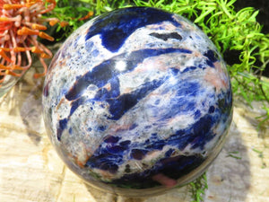 Polished Large Sodalite Sphere x 1 from Namibia