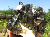 Natural Smokey Quartz Crystals With Aegerine x 2 from Zomba, Malawi