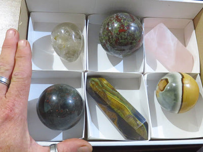 Polished Mixed Items x 6 from Southern Africa - TopRock