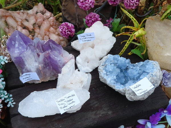 Natural Large Labelled Mixed Crystals x 4 from Southern Africa
