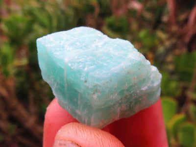 Natural Rough A Grade Mini to Medium Amazonite Chunks - sold per 5 Kg Batch from Madagascar