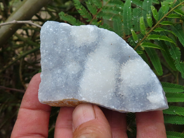 Natural Medium Blue Lace Agate Crystal Plates x 6 from Malawi