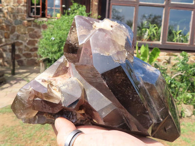 Natural & Polished XL Double Terminated Quartz Crystal x 1 from Madagascar
