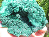 Natural Silky Malachite Specimen x 2 from Kasompe, Congo