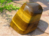 Polished Tigers Eye Freeforms x 6 from South Africa