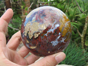 Polished Ocean Jasper Sphere x 1 from Madagascar