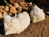 Natural Castle Quartz Crystal Clusters x 3 from Ivato, Madagascar