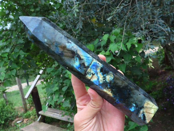 Polished Extra Large Labradorite Standing Point x 1  from Tulear, Madagascar