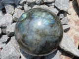 Polished Labradorite Spheres x 2 from Madagascar