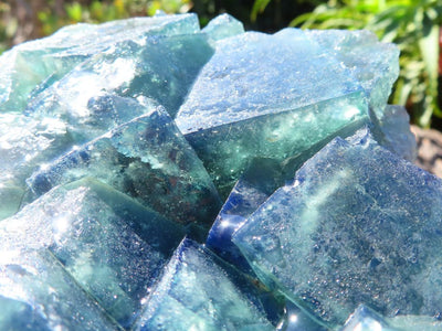 Natural Large Cubic Fluorite Plate x 1 from Madagascar