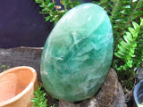 Polished Large Emerald green Fluorite Standing Freeform x 1  from Madagascar