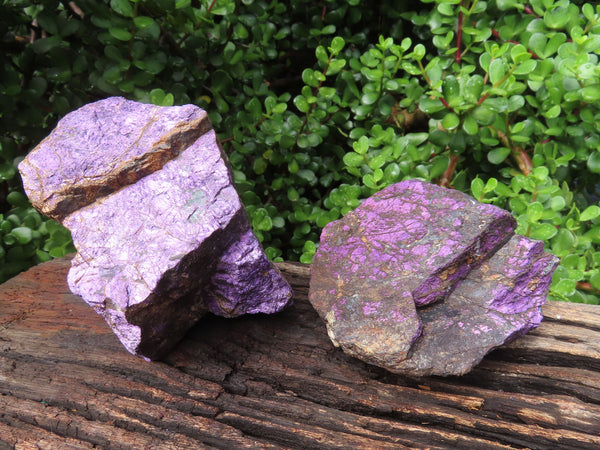 Natural Purple Purpurite Specimens x 2 From Namibia