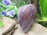 Polished New Red Flower Jasper Standing Freeform x 1 from Namibia