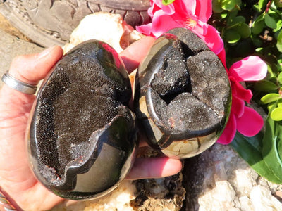 Polished Septeyre Sauvage Dragon Crystal Eggs x 2 from Mahaganja, Madagascar