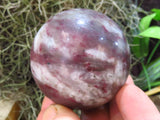 Polished Rare Rubelite Balls & Eggs x 6 from Madagascar