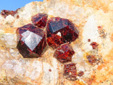 Natural Pyrope Garnet Crystal In Matrix x 4 from Betrokke, Madagascar