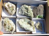 Natural Prehnite Specimens x 6 from Tafelkop, Namibia