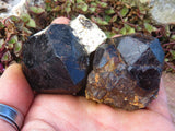 Natural Large Pyrope Garnet Crystal Specimens x 12 from Madagascar