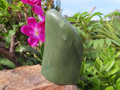 Polished Swaziland Jade Standing Freeform x 1 from Swaziland