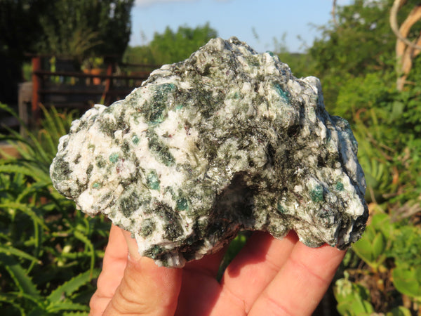 Natural Emeralds In Matrix x 2 From Sandawana, Zimbabwe
