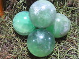 Polished Emerald Green Fluorite Balls x 12 from Madagascar - TopRock
