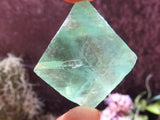 Natural Blue & Green Octahedron Fluorite Crystals x 35 from Riemvasmaak, South Africa