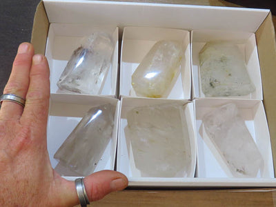 Polished Exceptional Quartz Points x 6 from Madagascar