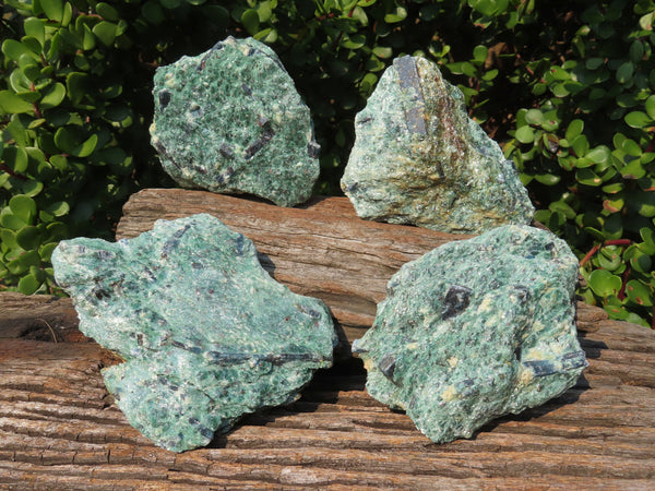 Natural Kyanite In Fuchsite Specimens x 4 From Kariba, Zimbabwe