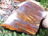 One Side Polished Tigers Eye Slices x 4 from South Africa