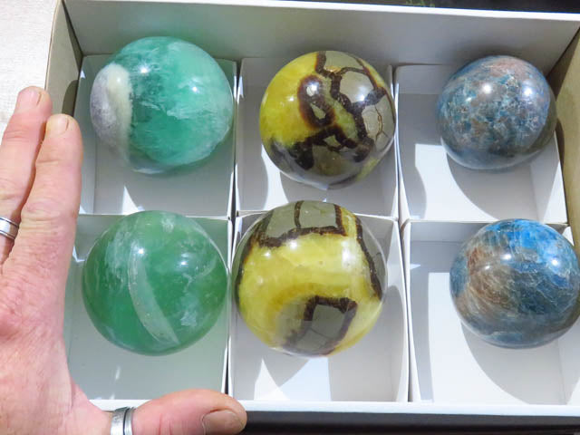 Polished Mixed Balls x 6 from Madagascar - TopRock