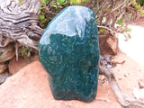 Polished A Grade XXL Green Ocean Jasper Standing Display Piece x 1  from Madagascar