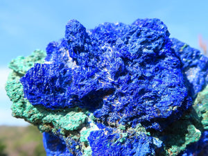 Natural Azurite Crystalline Nodules x 6 from Congo