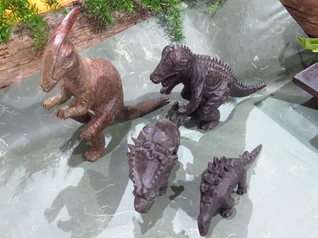 Polished Dinosaur Carvings x 4 from Zimbabwe - TopRock