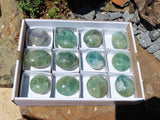 Polished XL Fluorite Gallets x 12 from Madagascar