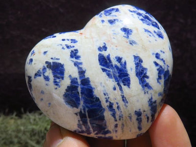 Polished Sodalite Hearts x 12 from Namibia