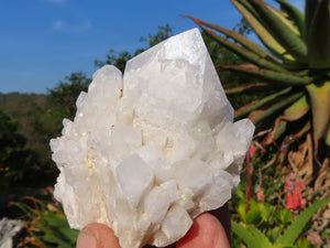 Natural Castle Quartz Crystal Clusters x 12 from Ivato, Madagascar