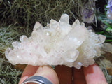 Natural Clear Quartz Crystal Clusters x 6 from Madagascar