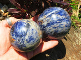 Polished Sodalite Balls x 2 from Kunene, Namibia