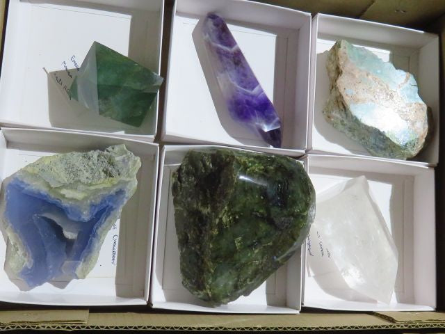 Polished Mixed Specimens x 6 from Mixed Localities