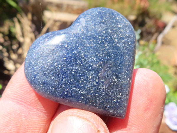 Polished Small Lazulite Hearts & Jewellery Free Forms x 24 from Madagascar