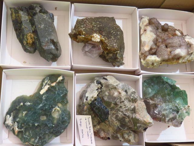 Natural Mixed Mineral Specimens x 6 from Mixed Localities