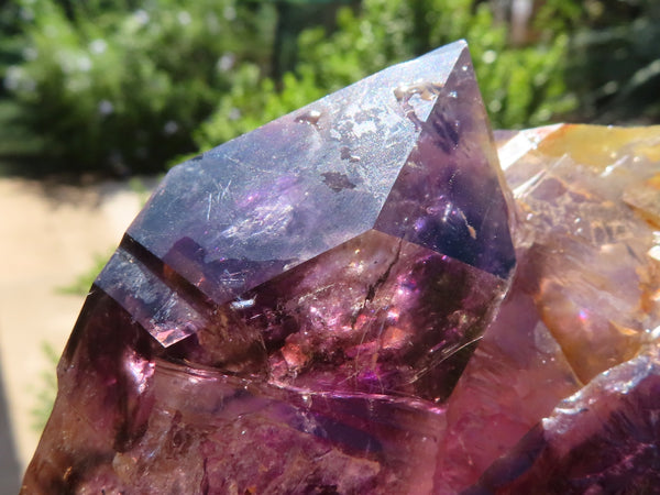 Natural XL Intact Brandberg Amethyst Twin Tops Quartz Cluster x 1 from Namibia